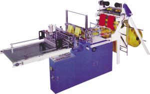 Пакетосварочный станок GS-2840-A для изготовления пакетов с донным швом - фасовка и майка. Нажмите для просмотра.