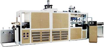 Пневмовакуумформовочный автомат для изготовления ланч-боксов, подносов JDX-700. Нажмите для увеличения
