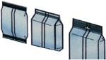 Варианты пакетов, формируемых автоматами для фасовки и упаковки сыпучих продуктов серии АУФ-B.