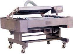 Напольный промышленный аппарат для вакуумной упаковки ленточного типа DZ 1000. Нажмите для просмотра.