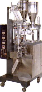 аппарат HP-110M для фасовки и упаковки сыпучих продуктов в пакетики саше (sachet - формируемые трехшовные пакеты). Нажмите для просмотра.
