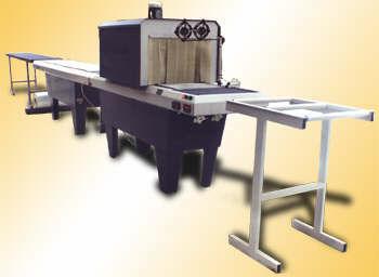 Упаковочная линия для упаковки в термоусадочную плёнку-рулон длинномерных изделий ТПЦ-550Д 1-4 в сборе